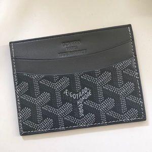 Gray Goyard Style Card Case